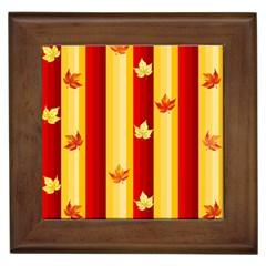 Autumn Background Framed Tiles