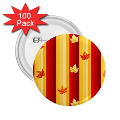 Autumn Background 2 25  Buttons (100 Pack)