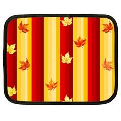 Autumn Background Netbook Case (large)