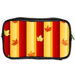 Autumn Background Toiletries Bags