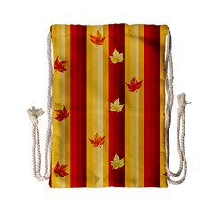 Autumn Background Drawstring Bag (small)