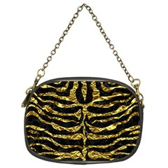 Skin2 Black Marble & Gold Foil Chain Purses (two Sides)