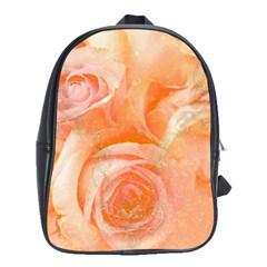 Flower Power, Wonderful Roses, Vintage Design School Bag (large)