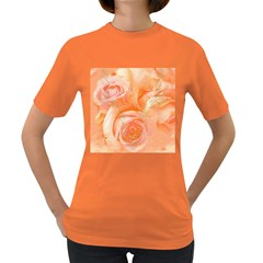 Flower Power, Wonderful Roses, Vintage Design Women s Dark T Shirt