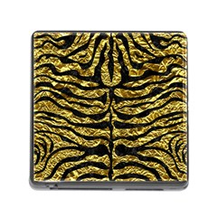 Skin2 Black Marble & Gold Foil (r) Memory Card Reader (square)