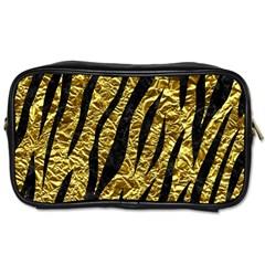 Skin3 Black Marble & Gold Foil (r) Toiletries Bags