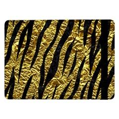 Skin3 Black Marble & Gold Foil (r) Samsung Galaxy Tab Pro 12 2  Flip Case