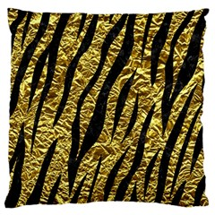 Skin3 Black Marble & Gold Foil (r) Large Flano Cushion Case (two Sides)