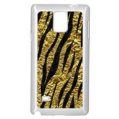 Skin3 Black Marble & Gold Foil (r) Samsung Galaxy Note 4 Case (white)