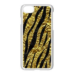 Skin3 Black Marble & Gold Foil (r) Apple Iphone 7 Seamless Case (white)
