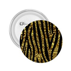 Skin4 Black Marble & Gold Foil 2 25  Buttons