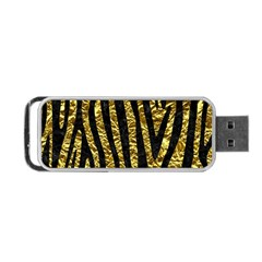 Skin4 Black Marble & Gold Foil Portable Usb Flash (two Sides)