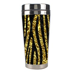 Skin4 Black Marble & Gold Foil Stainless Steel Travel Tumblers