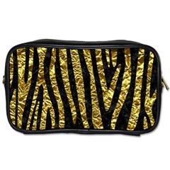 Skin4 Black Marble & Gold Foil (r) Toiletries Bags