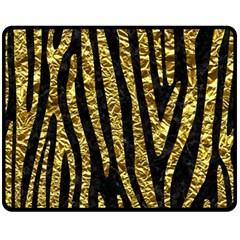 Skin4 Black Marble & Gold Foil (r) Fleece Blanket (medium)