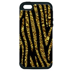 Skin4 Black Marble & Gold Foil (r) Apple Iphone 5 Hardshell Case (pc+silicone)