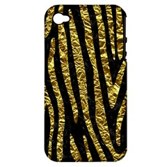 Skin4 Black Marble & Gold Foil (r) Apple Iphone 4/4s Hardshell Case (pc+silicone)