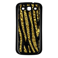 Skin4 Black Marble & Gold Foil (r) Samsung Galaxy S3 Back Case (black)