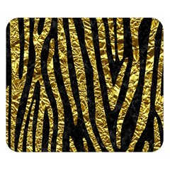 Skin4 Black Marble & Gold Foil (r) Double Sided Flano Blanket (small)