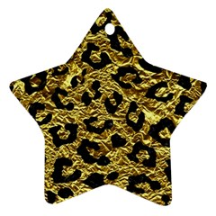 Skin5 Black Marble & Gold Foil Star Ornament (two Sides)