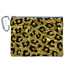Skin5 Black Marble & Gold Foil Canvas Cosmetic Bag (xl)