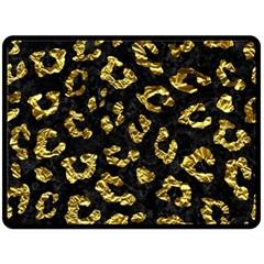 Skin5 Black Marble & Gold Foil (r)skin5 Black Marble & Gold Foil (r) Fleece Blanket (large)