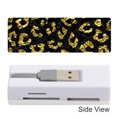 Skin5 Black Marble & Gold Foil (r)skin5 Black Marble & Gold Foil (r) Memory Card Reader (stick)