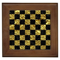 Square1 Black Marble & Gold Foil Framed Tiles
