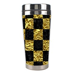 Square1 Black Marble & Gold Foil Stainless Steel Travel Tumblers