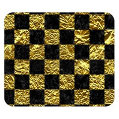 Square1 Black Marble & Gold Foil Double Sided Flano Blanket (small)