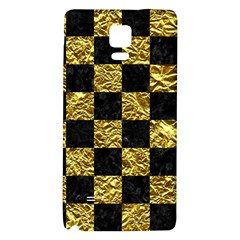 Square1 Black Marble & Gold Foil Galaxy Note 4 Back Case
