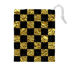 Square1 Black Marble & Gold Foil Drawstring Pouches (extra Large)