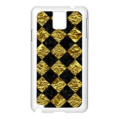 Square2 Black Marble & Gold Foil Samsung Galaxy Note 3 N9005 Case (white)