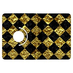 Square2 Black Marble & Gold Foil Kindle Fire Hdx Flip 360 Case