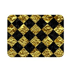Square2 Black Marble & Gold Foil Double Sided Flano Blanket (mini)