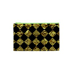 Square2 Black Marble & Gold Foil Cosmetic Bag (xs)