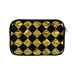 Square2 Black Marble & Gold Foil Apple Macbook Pro 13  Zipper Case