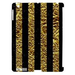 Stripes1 Black Marble & Gold Foil Apple Ipad 3/4 Hardshell Case (compatible With Smart Cover)