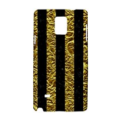 Stripes1 Black Marble & Gold Foil Samsung Galaxy Note 4 Hardshell Case