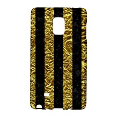 Stripes1 Black Marble & Gold Foil Galaxy Note Edge