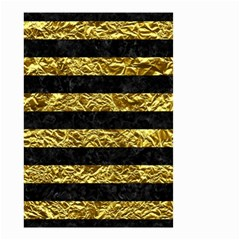 Stripes2 Black Marble & Gold Foil Small Garden Flag (two Sides)