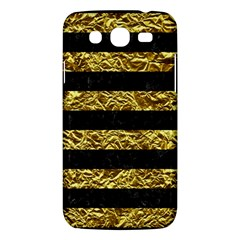 Stripes2 Black Marble & Gold Foil Samsung Galaxy Mega 5 8 I9152 Hardshell Case