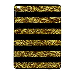 Stripes2 Black Marble & Gold Foil Ipad Air 2 Hardshell Cases