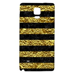 Stripes2 Black Marble & Gold Foil Galaxy Note 4 Back Case