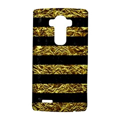 Stripes2 Black Marble & Gold Foil Lg G4 Hardshell Case