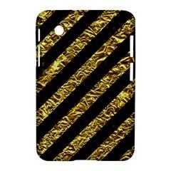 Stripes3 Black Marble & Gold Foil Samsung Galaxy Tab 2 (7 ) P3100 Hardshell Case