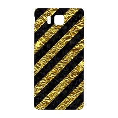 Stripes3 Black Marble & Gold Foil Samsung Galaxy Alpha Hardshell Back Case