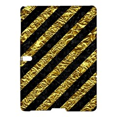 Stripes3 Black Marble & Gold Foil Samsung Galaxy Tab S (10 5 ) Hardshell Case