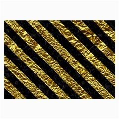 Stripes3 Black Marble & Gold Foil (r) Large Glasses Cloth