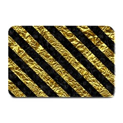 Stripes3 Black Marble & Gold Foil (r) Plate Mats